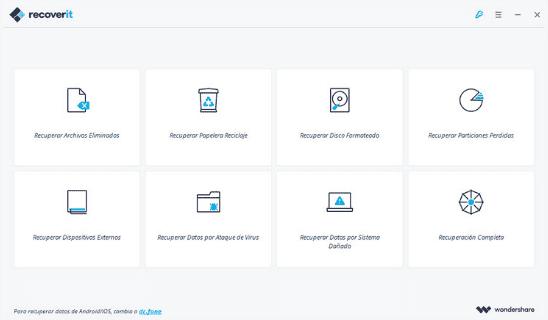 recoveit software para recuperar archivos