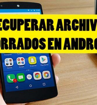 Cómo restablecer los archivos borrados en android