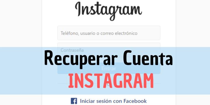Cómo recuperar una cuenta de instagram
